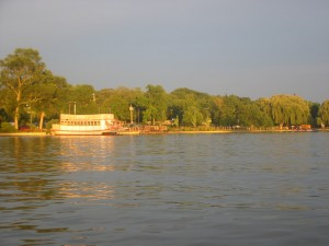 The Fox River in St. Charles, IL