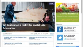 Crystal Lake Marine's Batmobile Boat Featured in the Northwest Herald
